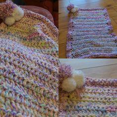 #crochet #crochetblanket #babyblanket #homemade #useingupwool#cavan #learning by eating_me