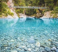 I'm surprised that swimming in the #bluepools doesn't make you come out blue. lakewanakanz #lovewanaka docgovtnz #newzealand #nzmustdo #travel