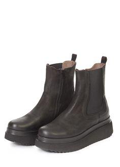 Black Platform Wedge Boots   Jessimara London Black Platform Wedges, Sheepskin Slippers, Wedge Boots, Patent Leather, Chelsea Boots, London, Shopping, Shoes, Fashion