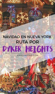 Ruta para ver las luces navideñas del barrio de Dyker Heights, en Brooklyn.  ¡De las mejores decoraciones de Navidad de Nueva York!