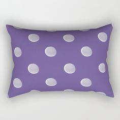 Polka Dots Rectangular Pillow by painting Oversized Throw Pillows, Down Pillows, Poplin Fabric, Pillow Inserts, Hand Sewing, Polka Dots, Sleep, Comfy, Canvas