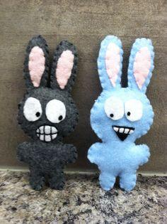 Felt crazy bunnies