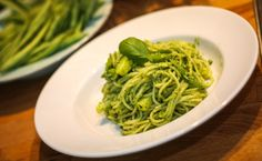 Spaghetti Liguria mit selbstgemachtem veganen Pesto