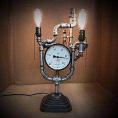 Steampunk Industrial Lamp Handmade