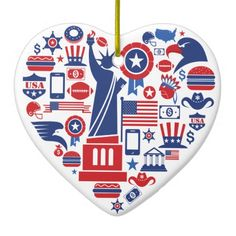 http://www.zazzle.com/america_usa_ornament_srf-175584491199660522  ...  America USA Ornament - SRF