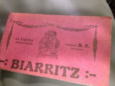 Antique 1900 WW1 era BIARRITZ  FRENCH POSTCARD set/book of 24 cote basque coast
