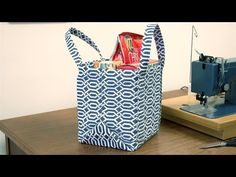Sewing Tutorial - How to Make a Square Bottom Bag - WhatTheCraft.com - YouTube