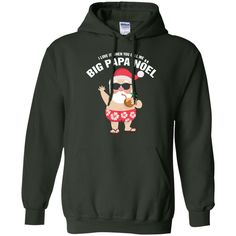 Christmas, santa, funny, i love it when you call me Pullover Hoodie 8 oz