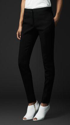 Bonded Crêpe Straight Leg Trousers | Burberry