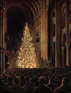 z- Illustrierte Zeitung' mag- - Xmas, WWI -Midnight Mass, Laons Cathedral, 1915