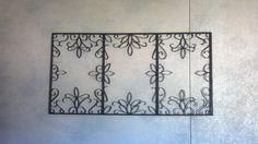 Faux metal wrought iron for the salon.