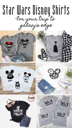 The Ultimate Collection of Disney Shirt Ideas for Your Vacation - Star Wars Tshirt - Trending and Latest Star Wars Shirts - Cute Disney Shirts, Disney Vacation Shirts, Family Vacation Shirts, Disney Shirts For Family, Matching Disney Shirts, Cruise Vacation, Disney Vacations, Disney World Outfits, Disney World Trip
