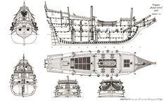 [Frigate Rotter Lowe ship model plans]