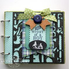 Boy Oh Boy! Mini Album by Shellye McDaniel with the Suave Collection by @Authentique Paper and @Leaky Shed Studio