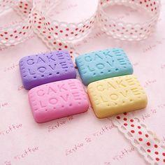 Kawaii Polymer Clay Charms Love Cake Cookies by SophieToffeeCo, $4.50