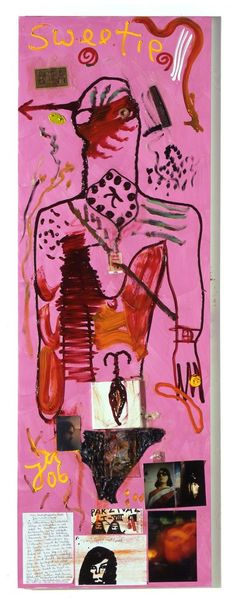 MULTIMEDIA COLLAGE REF Jonathan Meese, Im 3. Fluß schwamm der Erntehai..., 2006, Contemporary Fine Arts