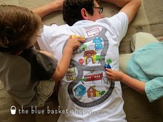 The Blue Basket: Car Play Shirts for Father's Day
