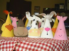 Crafts - Farm Animal hats for kids- chick, horse, cow, rabbit, pig