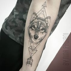 Just the Arrow here thru the other wolf.triangles here give you an idea of how I want eternal love, triple.top if you can incorporate the one second up right side,. Tattoos 3d, Music Tattoos, Wolf Tattoos, Feather Tattoos, Wrist Tattoos, Trendy Tattoos, Animal Tattoos, Cute Tattoos, Beautiful Tattoos