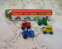 Tin cars and tractors mint in original box by TreasuresFromTexas, $15.00