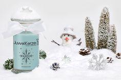 Duftkerze mit Schmuck - JuwelKerze Schneeflöckchen (Ring)