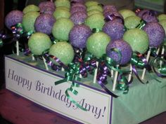 Cake Pops for Princess and the Frog party