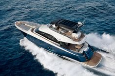 """It may seem like an oxymoron to say that a multi-million dollar yacht is """"economical"""" to operate, but all things are relative. Her twin MAN V8 diesels with direct shafts should make the new Monte Carlo Yachts 65 one of the lowest cost-to-operate vessels in class."""