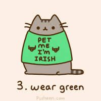 Happy St. Patrick's Day! Hope you didn't forget to wear green :) #diabetes #cuteanimals #funny #pusheen #healthy