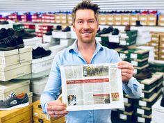 Pressebericht im Walsroder Markt über Kay Zimmer, Gründer und Geschäftsführer des Übergrößen-Spezialisten schuhplus aus 2731 Dörverden.