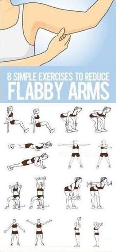 8 Simple Exercises to Reduce Flabby Arms-Do you have a fat accumulation in the arm area? Do you think twice before selecting a sleeveless dress for you because you have flabby arms If yes then I must tell that you can lose the stubborn arm fat and get th Fitness Workouts, Good Arm Workouts, Training Fitness, Easy Workouts, Fitness Diet, At Home Workouts, Fitness Motivation, Health Fitness, Fat Workout