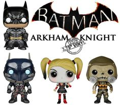 New #BATMAN: ARKHAM KNIGHT Pop! Vinyl Figures by #FUNKO Out Now!