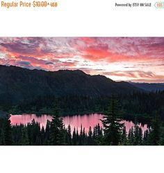ON SALE Landscape Photography, Mount Rainier, Fine Art, Photo, Print, Reflection Lakes, Cascades, PNW, Wall Art, Office Decor, Local, Nature