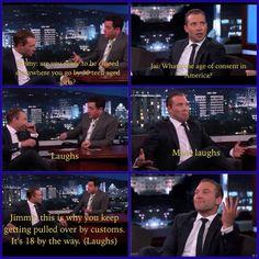 Jai Courtney on Jimmy Kimmel. I love this!