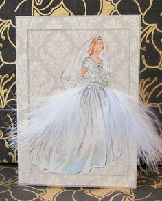 Kathryn Wedding Personalized Card / C6 Size / Handmade by BSylvar, $7.50