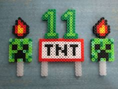 12-25-2013 It's Mine Craft TNT Birthday Party Favor Cupcake Cake Topper Age Personalized