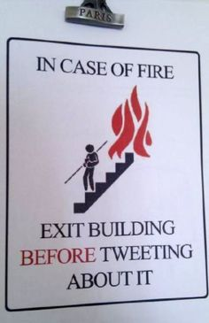 In Case Of Fire Exit Building Before ...,  Click the link to view today's funniest pictures!