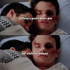 """337 Likes, 5 Comments - darren & chris ✨ (@klaine.otp) on Instagram: """"imagine thinking i'll ever get over blaine laying beside his injured fiancé"""""""