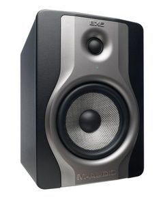"""M-Audio BX5 Carbon Active Studio Monitor: M-Audio's hit BX5 powered studio monitors are back with the BX5 Carbon. With 70 watts of bi-amplified power, these 5"""" monitors are perfect for home studios."""