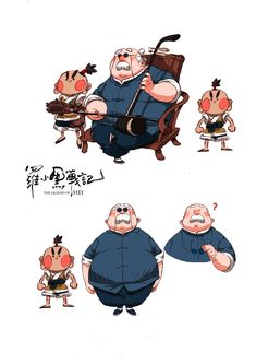 """""""Some designs & artworks from """"The Legend of Hei"""" chinese animated feature film Character Design Girl, Character Design Animation, Character Design References, Character Concept, Character Art, Simple Character, Character Sketches, Character Illustration, Illustration Art"""