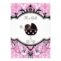 damask baby shower invitations - Google Search