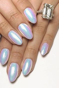 The holographic gel nail trend is blowing up according to an insta-famous nail artist. Have you tried it yet?
