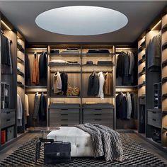 """437 Likes, 13 Comments - Decoração Contemporânea (@decoracaocontemporanea) on Instagram: """"Closet 😉 #designdeinteriores #luxury #arquitetura #deco #decor #house #home #design #interior…"""""""