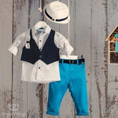 Βαπτιστικό Σύνολο για Αγόρια Τιρκουάζ με Μπλε | Angel Wings 025 Boy Christening, Boy Outfits, Boys, Pants, Clothes, Dresses, Fashion, Boyish Outfits, Baby Boys