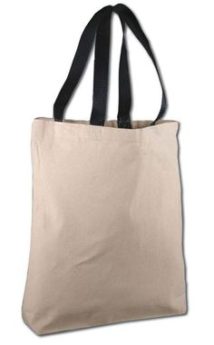 fe158a5821 Cotton Canvas Tote Bags with Contrast Handles