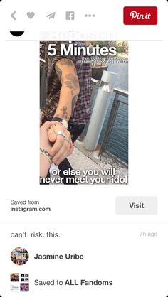 It says repost in 5 minutes or you will never see your idol