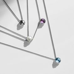 Petite Charelaine necklaces from @davidyurman add an elegant drop of color to your look. #mccaskillandcompany