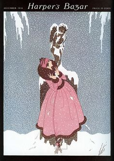 Items similar to Erte Art Deco Fashion Design Print Harper's Bazar Snowflakes Winter Decor on Etsy Art Deco Print, Art Deco Design, Art Prints, Art Deco Illustration, Fashion Illustration Vintage, Design Illustrations, Vintage Illustrations, Fashion Illustrations, Art Nouveau