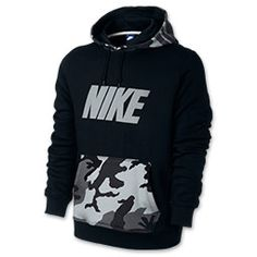 Nike Club PO Hoodie Woodland Camo - Men's at Foot Locker | Hoodies ...