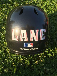 Baseball Helmet Decal, Personalized Baseball Helmet Decal, Helmet Decal, Baseball Sticker, Helmet Decal Name by BriarPatchDesignsLA on Etsy https://www.etsy.com/listing/275215662/baseball-helmet-decal-personalized
