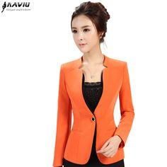 2015 otoño invierno de las mujeres chaqueta larga de la manga más el tamaño de la oficina OL formal hembra chaqueta de traje ropa de trabajo delgada Patchwork prendas de vestir exteriores